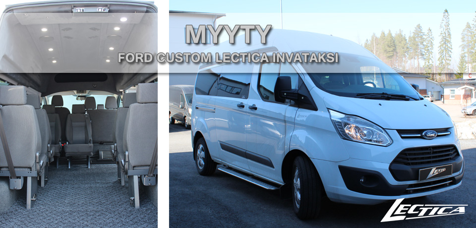 Myyty: Ford Transit Custom Lectica Invataksi 1+2+6
