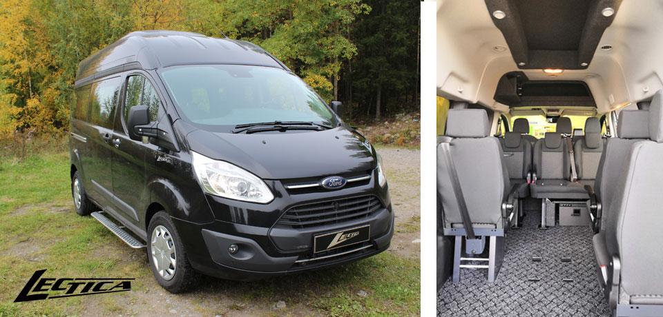 Myytävänä: Ford Transit Custom Lectica Retkeilyauto 1+2+6