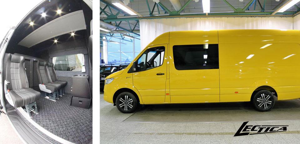 Myytävänä: M-B Sprinter Lectica Retkeilyauto 1+1+3