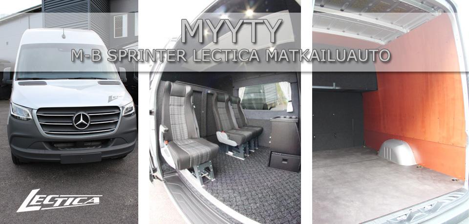 Myyty: M-B Sprinter Lectica Retkeilyauto 1+1+3